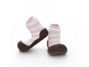 Baby shoes – pink stripes – Attipas