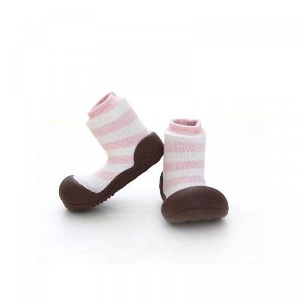 Baby shoes - pink stripes - Attipas