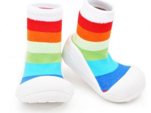 Baby shoes – rainbow bianco – Attipas