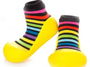 Baby shoes – rainbow giallo – Attipas